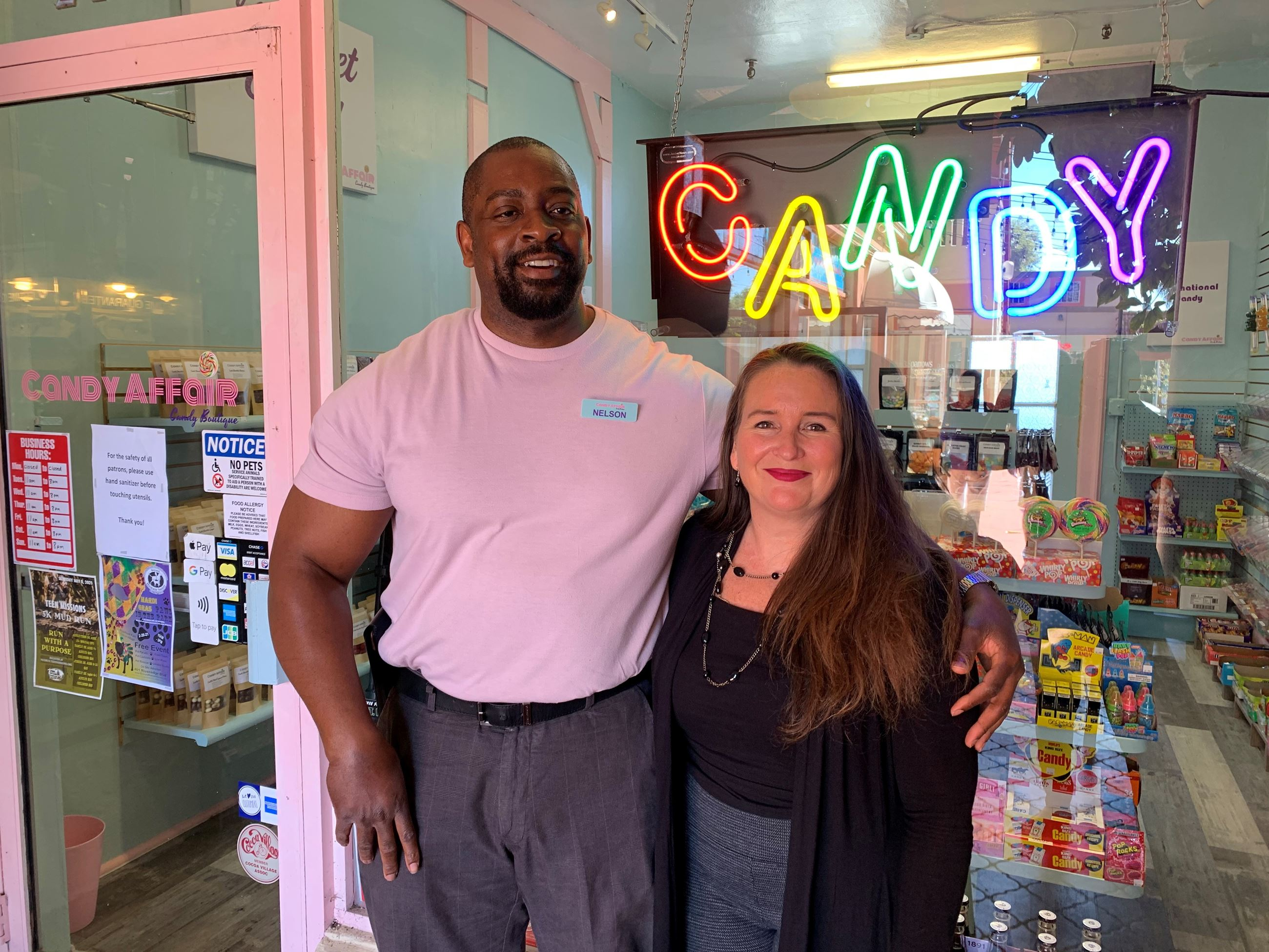Candy Affair Candy Boutique owners